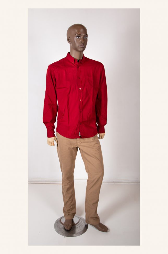 Red Long Sleeve Jeep Shirt