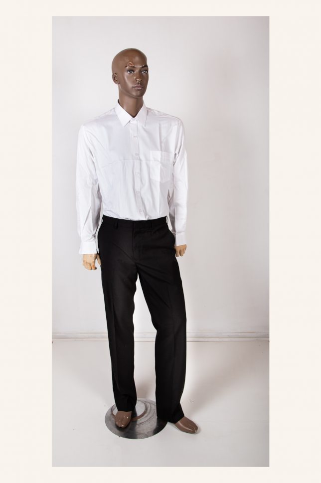 White Giovanni Nero Tie Shirt